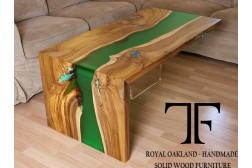 Beliz live edge river coffee table