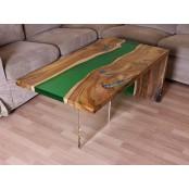 Beliz live edge river coffee table