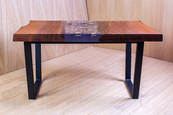 Zambezi live edge oak coffee table