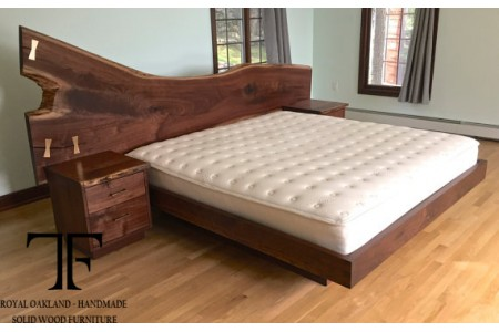 Exeter live edge bed