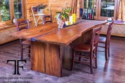 Colorado live edge oak dining table
