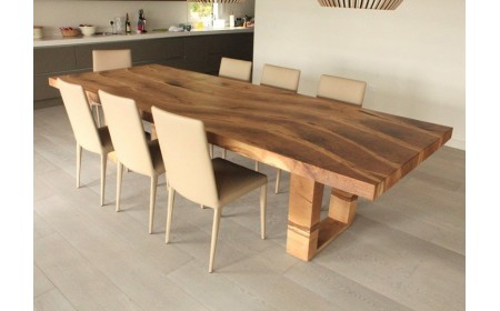 Chester live edge dining table