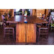 Colorado live edge oak dining table