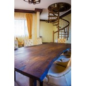 Hayes live edge oak dining table