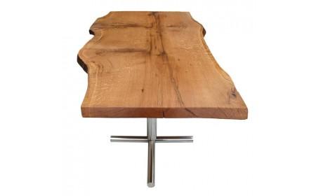 Oxford live edge oak dining table