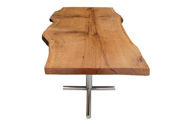 Oxford live edge oak dining table