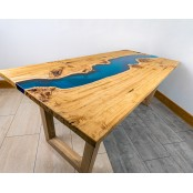 Poplar Dining Blue Epoxy