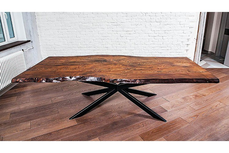 Arma Dining Table With A Live Edge At An Affordable Price