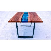 Bangor dining resin river table