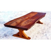 Belfast live edge oak dining table