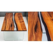 Dundee dining live edge resin river table