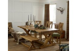Elizabeth dining live edge oak table