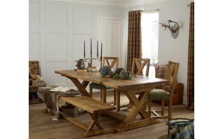 Elizabeth dining live edge oak table